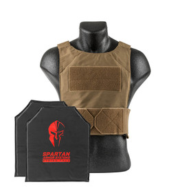 Coyote Tan Spartan Armor Systems™ Flex Fused Core™ IIIA Soft Body Armor and Spartan DL Concealment Plate Carrier