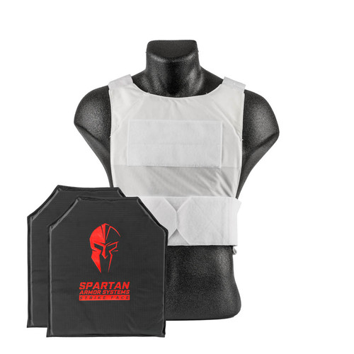 White Spartan Armor Systems™ Flex Fused Core™ IIIA Soft Body Armor and Spartan DL Concealment Plate Carrier