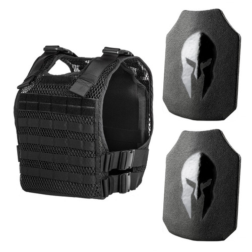 Spartan AR550 body armor and 221B tactical phantom plate carrier package