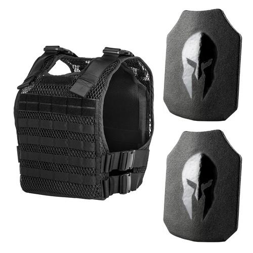 Spartan AR550 body armor and 221B tactical phantom plate carrier package
