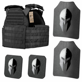 Spartan Omega AR500 Body Armor and Sentinel Plate Carrier Package