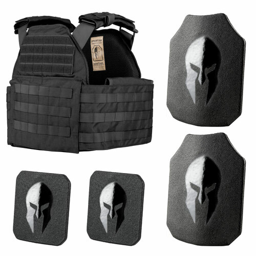 Sentinel Plate carrier package with 10x12 front, back and 6x6 side plates.