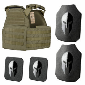 Level III+ AR550 Certified Plates and Sentinel Plate Carrier Package