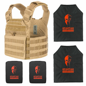 Level IIIA soft body armor and plate carrier package.