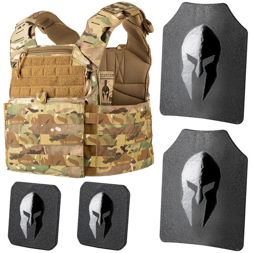 Leonidas plate carrier and Spartan Omega AR500 body armor package.