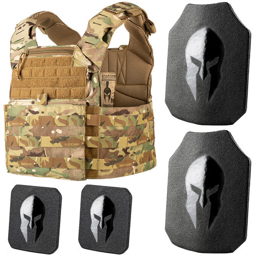 Leonidas AR550 body armor and plate carrier package by Spartan Armor Systems.