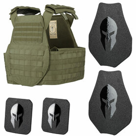 SPARTAN OMEGA AR500 BODY ARMOR AND SENTINEL SWIMMERS PLATE CARRIER PACKAGE