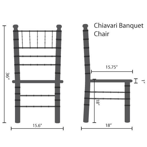 wooden chiavari banquet chairs