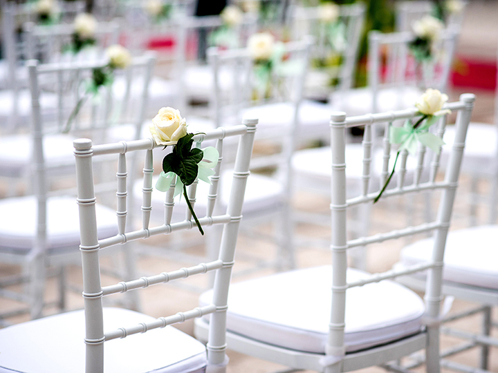 White Wood Chiavari Chairs