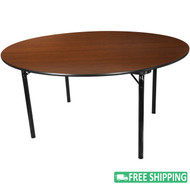 5-pack Advantage 5 ft. Round High Pressure Laminate Folding Banquet Table [MEW-60R-WB-05]