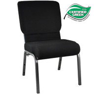 Advantage Black Church Chair 20.5 in. Wide [PCHT-108]