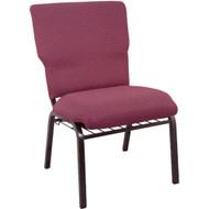 Advantage Burgundy Pattern Discount Church Chair - 21 in. Wide [EPCHT-100]