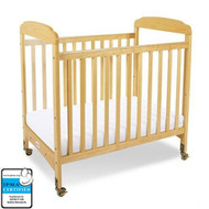 Foundations Serenity Fixed-Side Compact Crib - Clearview - Natural [1732040]