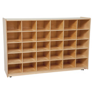 Wood Designs Tip-Me-Not 25 Tray Cubby Storage Unit - 48''W x 15''D x 38''H [16089-WDD]