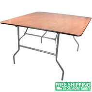 Advantage 4 ft. Square Wood Folding Banquet Table [FTPW-4848]