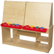 Wood Designs Kids Classroom Art Center for Four [19300-WDD]
