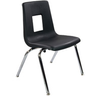 Advantage Black Student Stack School Chair - 16-inch [ADV-SSC-16BLK]