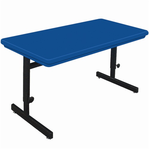 Correll 5 ft  Computer Table - Adjustable Height Blow-Molded Top [RCSA3060]