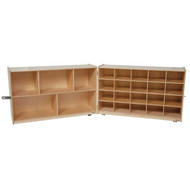 Wood Designs Half and Half Folding Cubby Storage Unit [14609-WDD]