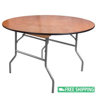 5-pack Advantage 4 ft. Round Wood Folding Banquet Tables [FTPW-48R-05]