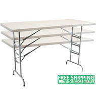 Advantage 6 ft. Adjustable Plastic Folding Table [ADV3072-ADJ]
