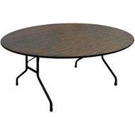 Correll PC6072P 6-ft Oval Wood Folding Table