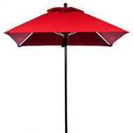 BFM Seating 6.5 ft. Square Aluminum Market Umbrella - Aluminum Frame [U6.5A]