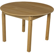 Wood Designs Round Wood School Table - 36'' Diameter x 23''H [83622-WDD]
