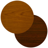 "BFM Seating 24"" Round Laminate Restaurant Table Top - Cherry / Dark Mahogany Reversible [CM24R]"