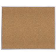 Ghent 4'x8' Natural Cork Bulletin Board - Aluminum Frame [AK48]