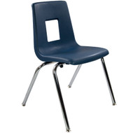 Advantage Navy Student Stack School Chair - 18-inch [ADV-SSC-18NAVY]
