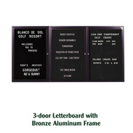 Ghent 36x72-inch Enclosed Black Letter Board - Bronze Aluminum Frame [PB33672B-BK]