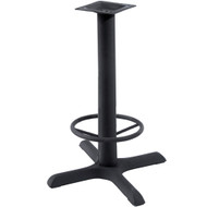 BFM Seating 22x22-in. Bar Height Bar & Restaurant Table Base with Footring [TB-2222TFR]
