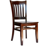 BFM Seating Princeton Walnut Wood School Back Restaurant Chair [LWC7218WAWAW]