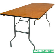 5-pack Advantage 8 ft. Wood Folding Banquet Tables [FTPW-3096-05]