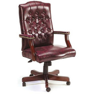 Traditional Executive Chair - Mahogany Finish [BTCEO-905]