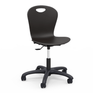 Virco ZUMA Series Task Chair with 16''H - 20.5''H Adjustable Seat and Black Base [ZTASK18]