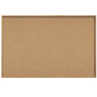 Ghent 4'x4' Natural Cork Bulletin Board - Wood Frame [WK44]