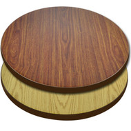 "Advantage 36"" Round Restaurant Table Top - Oak / Walnut Reversible [CT36RND-OWBR]"