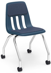 Virco 9000 Series Classroom Task Chair with 2'' Swivel Casters and Upholstered Seat and Back Pads  [9050P] - 2 Pack