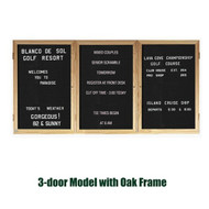 Ghent 48x72-inch Enclosed Black Letter Board - Oak Frame [PW34872B-BK]