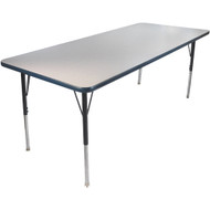 Advantage 30 in. x 72 in. Rectangular Adjustable Activity Table - Grey/Navy [AT3072-GN]