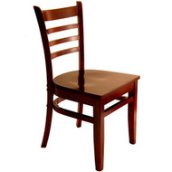 BFM Seating Burlington Mahogany Wood Ladder Back Restaurant Chair [WC101MH-BFMS]