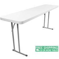 Advantage 5 ft. Pedestal Leg Folding Training Table [ADV1860]