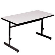Correll 6 ft. Computer Table - Adjustable Height High Pressure Laminate Top [CSA3072]