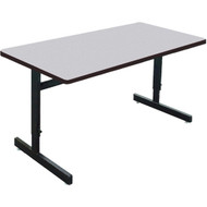Correll 5 ft. Computer Table - Adjustable Height Melamine Laminate Top [CSA2460M]