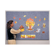 Ghent 4'x10' Wrapped PremaTak Vinyl Frameless Tack Board [12UV410-W]