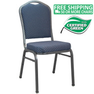 Advantage Premium Navy-patterned Crown Back Banquet Chair [CBMW-201]