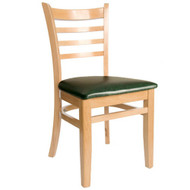 BFM Seating Burlington Natural Wood Ladder Back Restaurant Chair [WC101NT-X-BFMS]