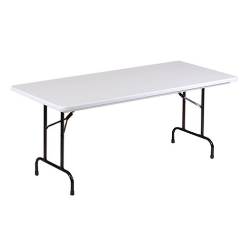 correll r3096 8 ft long plastic folding tables for sale at classroom
